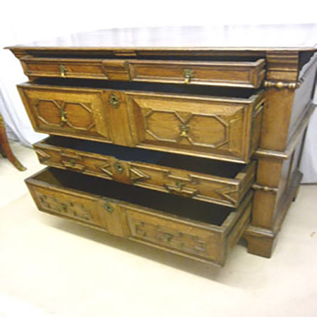 Edwardian Mahogany Serpentine Chest Of Drawers Fgb Antiques