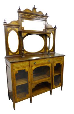 17 A Victorian Inlaid Etaere CENX
