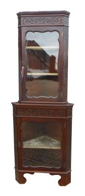 28 A Edwardian Blind Fretwork Corner Cabinet CVX