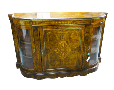34 A Victorian Burr Walnut Credenza AINX
