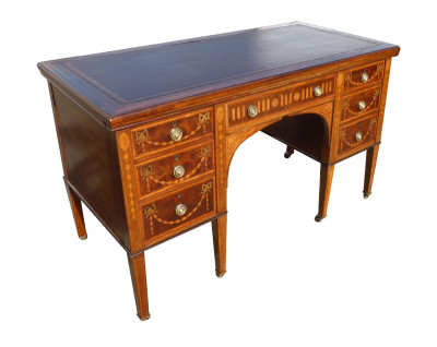 11 A Rosewood Inlaid Writing Table by Edwards and Roberts DCX