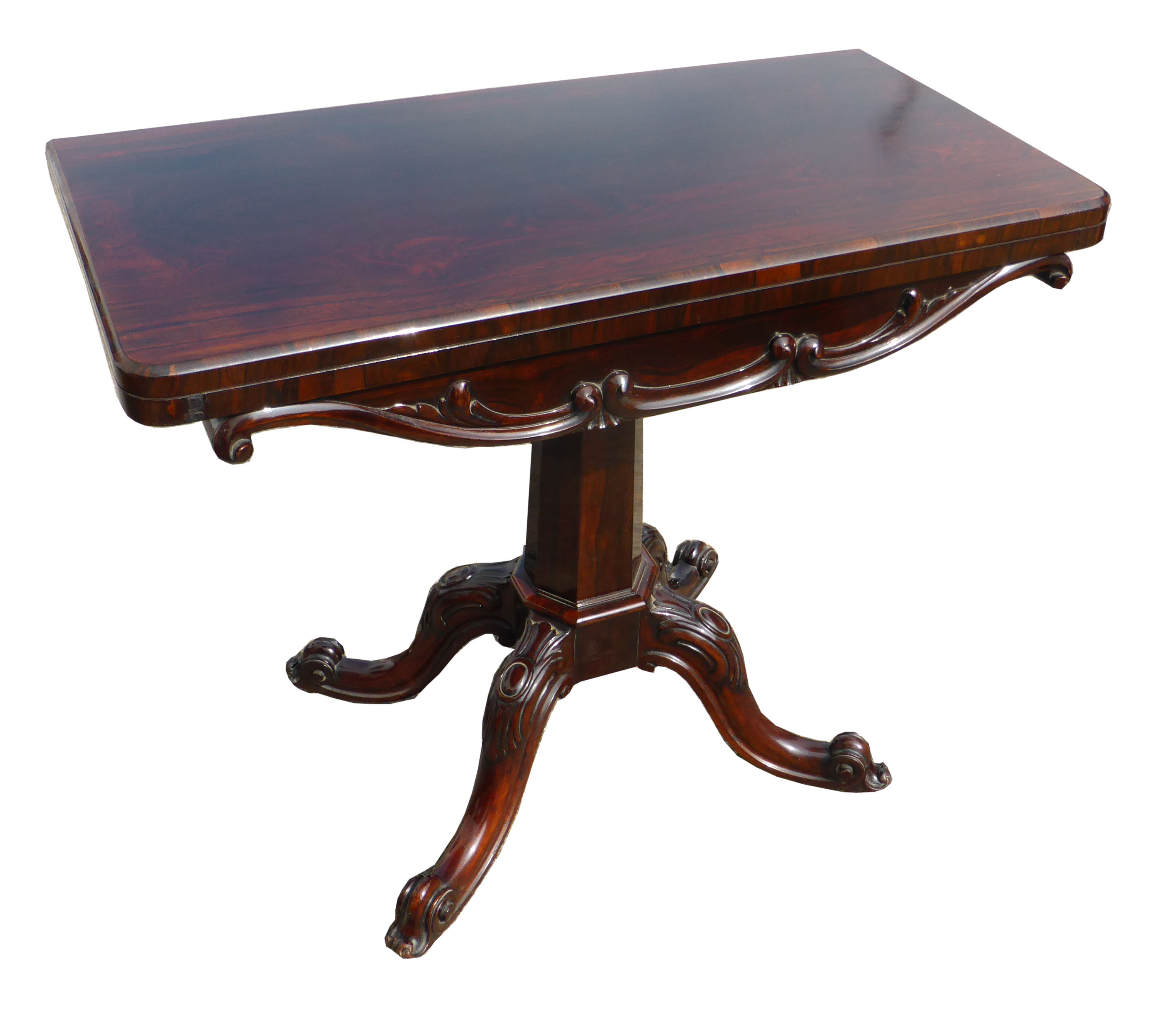 Victorian Rosewood Card Table FGB Antiques