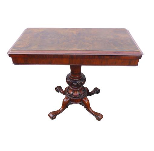 607 S24 Burr Walnut Card Table VAN