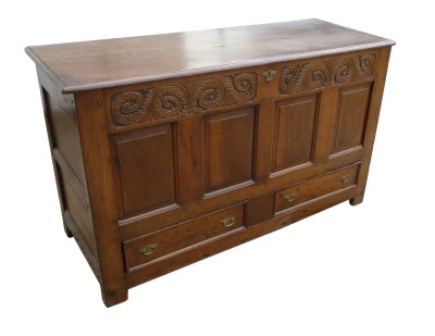 72 A 18th Century Oak Coffer CDX