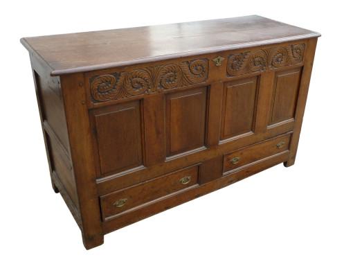 72 A 18th Century Oak Coffer CDX