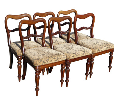 228 A Set of 6 Victorian Dining Chairs AAX