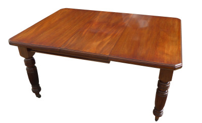 284 A Victorian Mahogany Extending Dining Table ANX