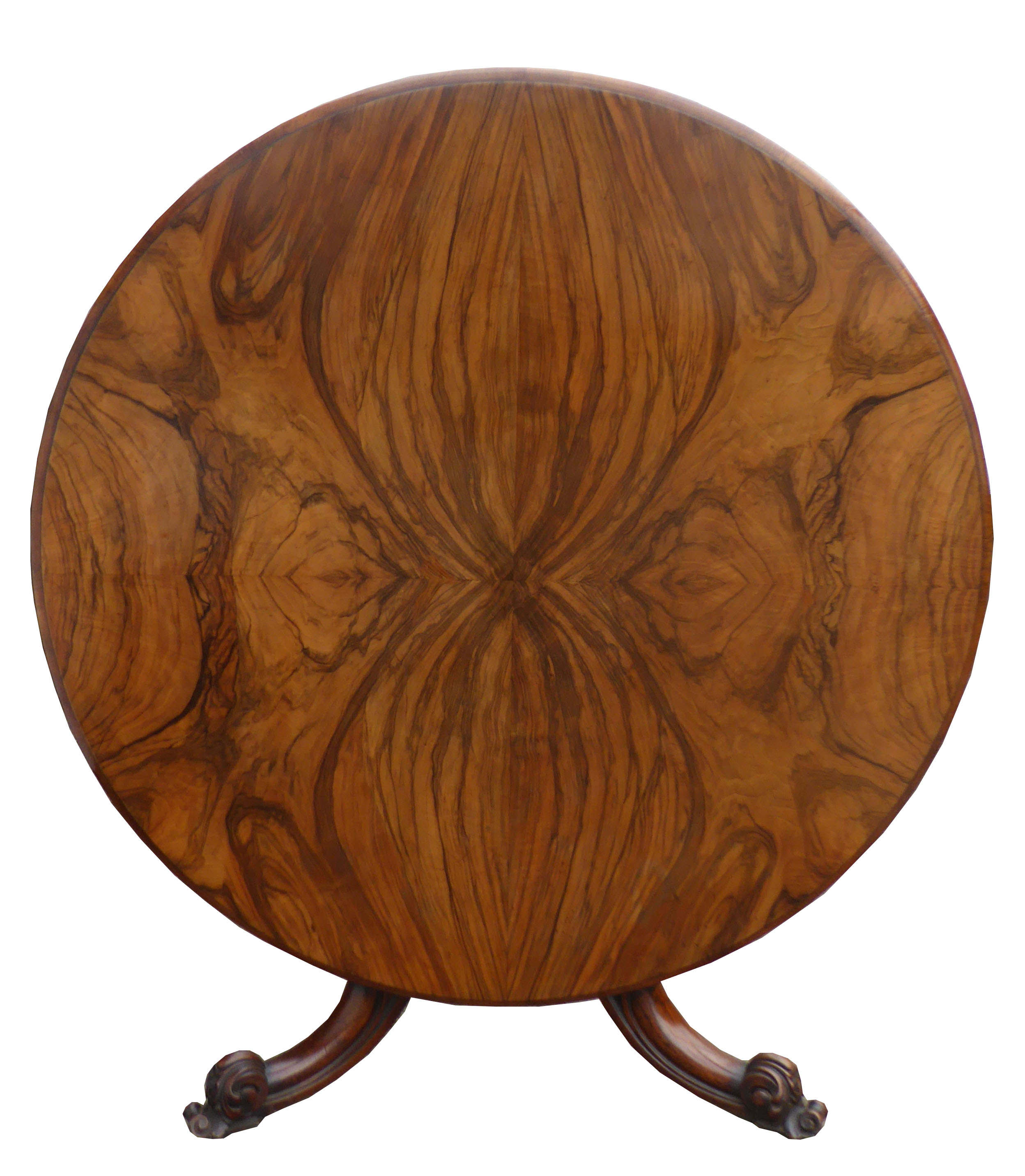296 A Victorian Figured Walnut Breakfast Table SXX