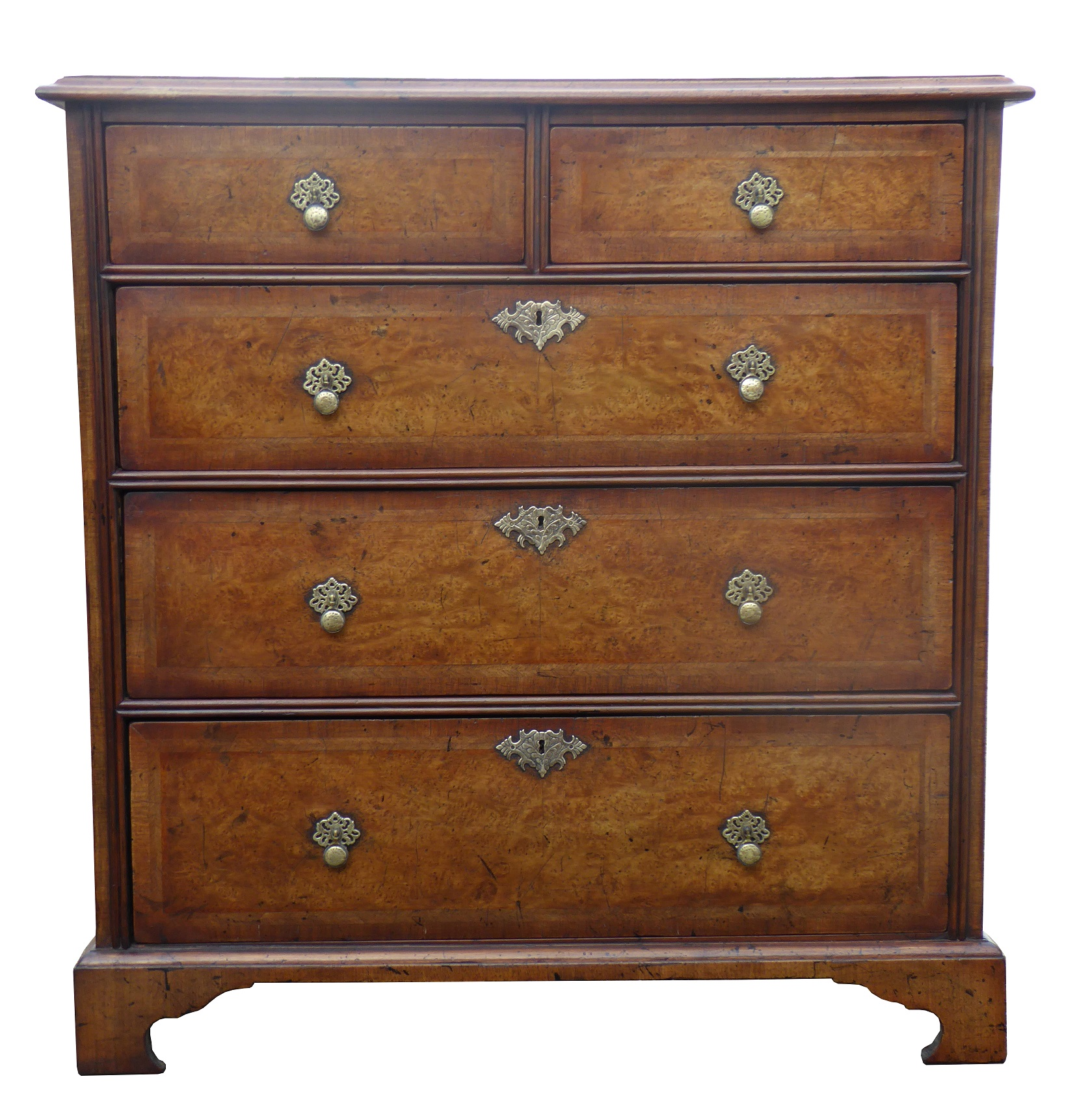 George Iii Burr Walnut Chest Of Drawers Fgb Antiques