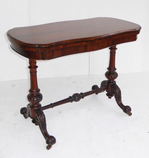 340 A Victorian Rosewood Card Table VNX