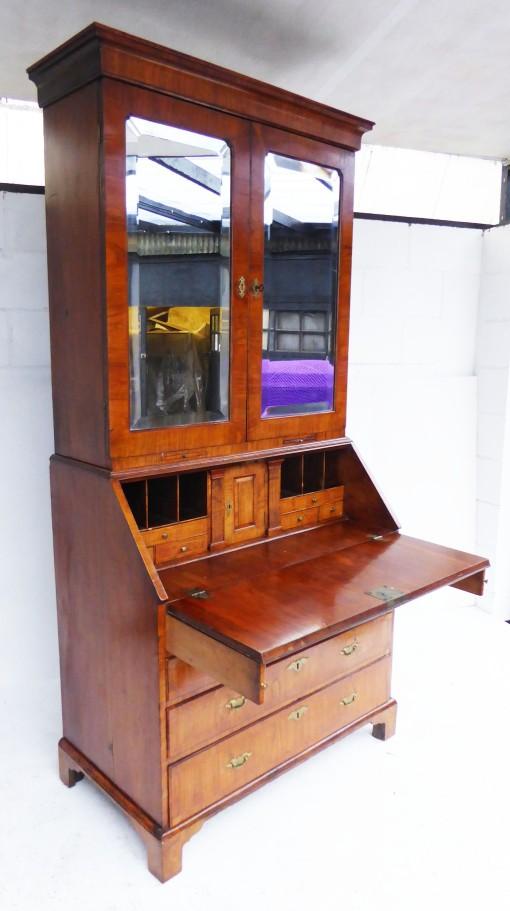 361 A George II Walnut Bureau Bookcase CIXX