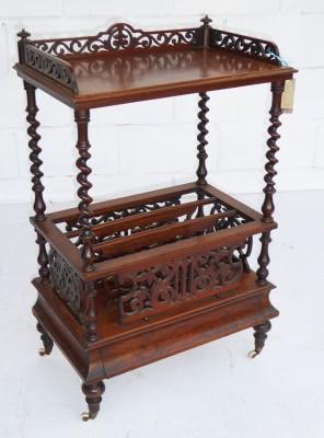 369 A Victorian Burr Walnut Canterbury VNX