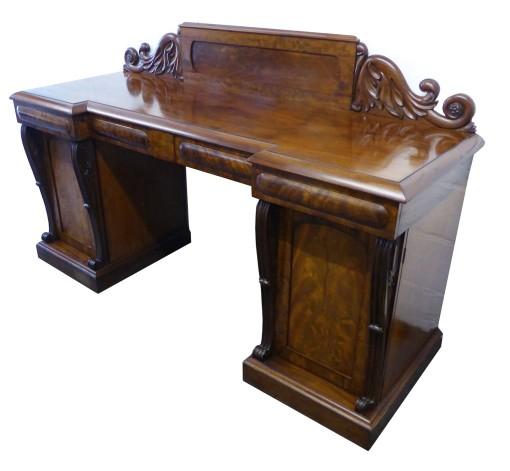 377 A William IV Mahogany Pedestal Sideboard HXX
