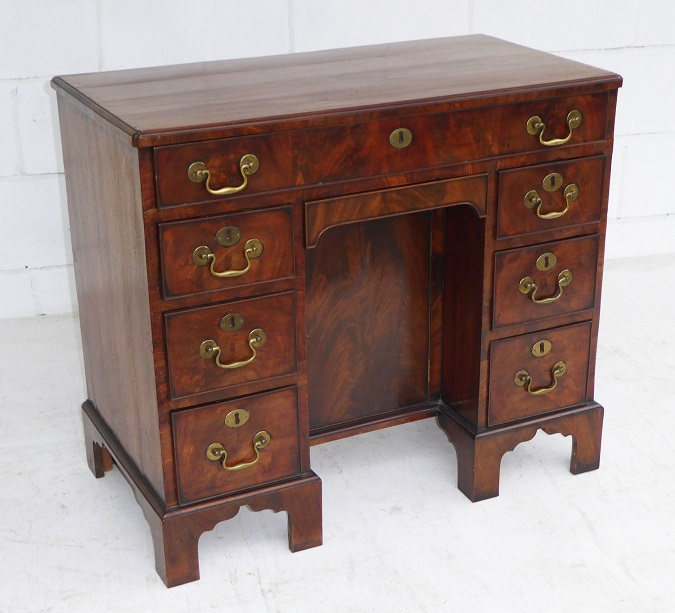 George Iii Mahogany Kneehole Desk Of Small Proportions