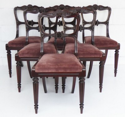 413 A Set of 6 George IV Dining Chairs IXX