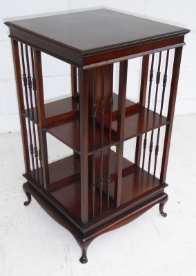 484 A Mahogany Revolving Bookcase makers schoolbred & co AVX