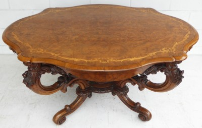 486 A Victorian Marquetry Inlaid Table CSXX