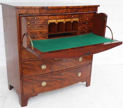 500 A Bow Front Secretaire Chest NDX