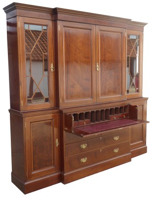 508 A Edwardian Breakfront Bookcase CANX £2750