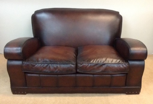 547 A Vintage Leather Sofa NIN