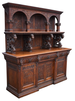 526 A Superb 19th Century Carved Sideboard NXX £3500