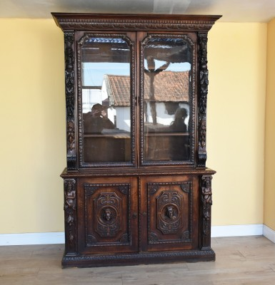 578 A Victorian Carved Oak Bookcase NXX