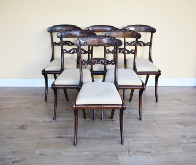 590 A Set of 6 Regency Rosewood Dining Chairs NXX