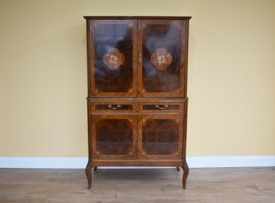 599 A Burr Walnut and Marquetry Cocktail Cabinet by Epstein VXX