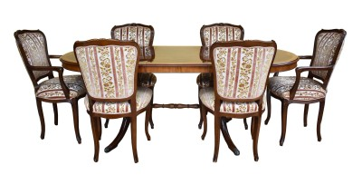 600 A Dining Table and 6 Chairs by Epstein VXX
