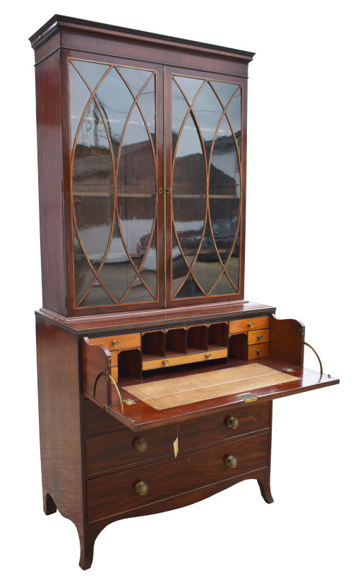 620 A George III Mahogany Secretaire Bookcase