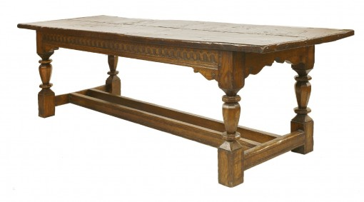 656 A 20th Century Solid Oak Refectory Table CCNX