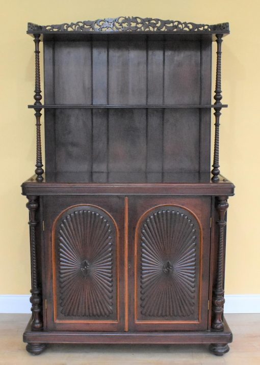 129 Victorian Rosewood Dresser Cabinet aex £475