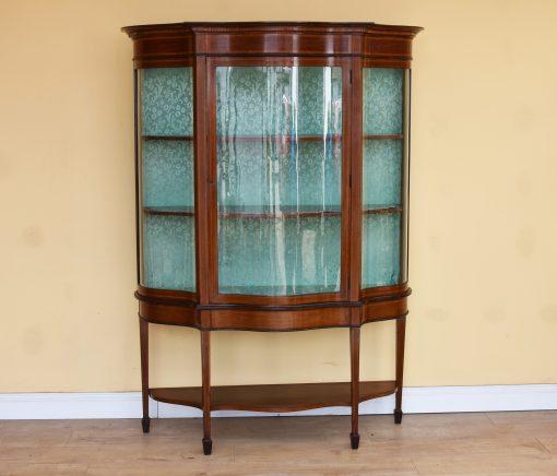 68 A Edwardian Mahogany Inlaid Display Cabinet ANX