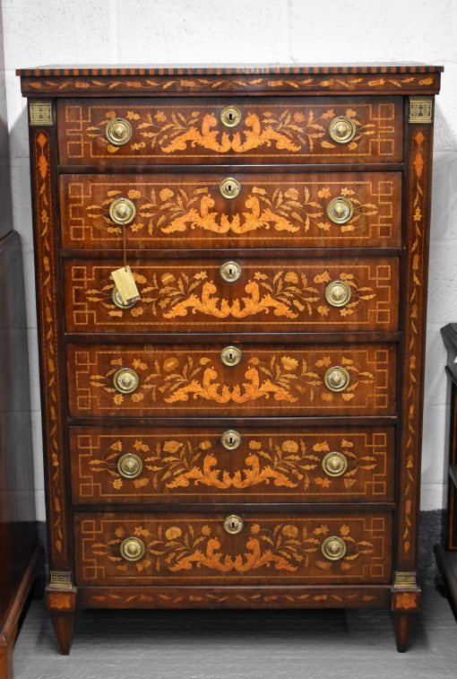 142 A Dutch Marquetry Chest of Drawers CDXX