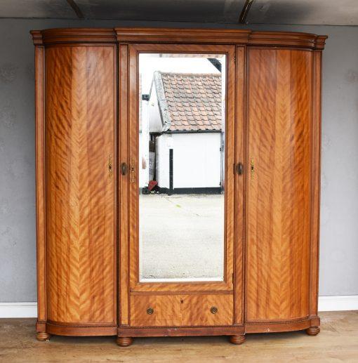 967 A Three Door Satin Birch Wardrobe CXX