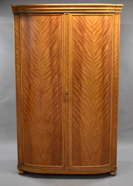 968 A Two Door Satin Birch Wardrobe CXX